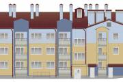 Восточный фасад жилого дома в селе Алеховщина