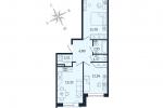 ЖК Дом с Фонтаном. Планировка двухкомнатной квартиры 4 тип