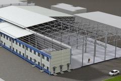 Проект цеха металлообработки Конструктив цеха и АБК