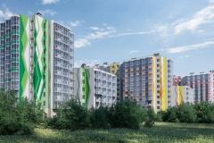ЖК Ювента в пос. Бугры Юго-западный вид жилого комплекса