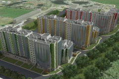 ЖК Ювента в пос. Бугры Западный вид жилого комплекса