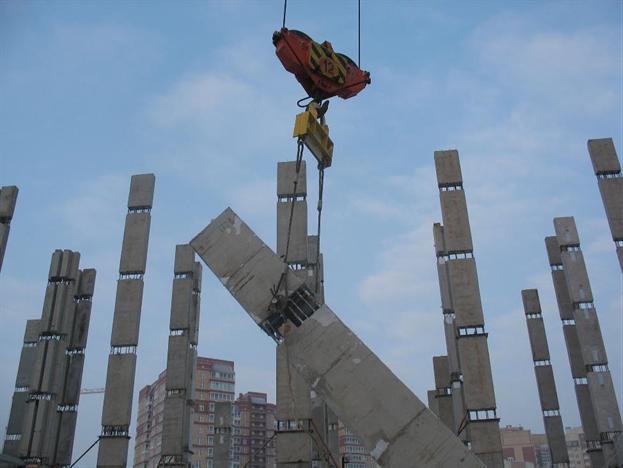Установка колонны в проектное положение
