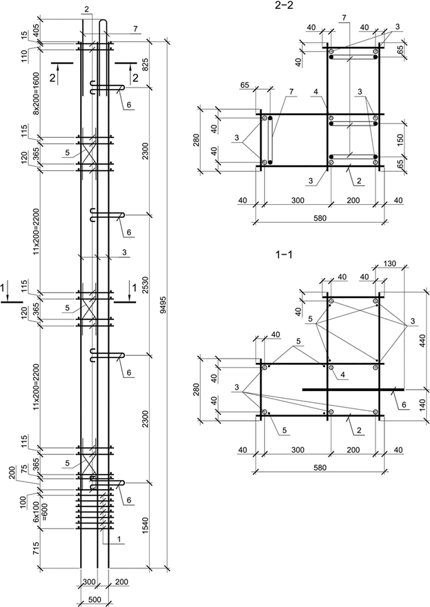 КЖ.И Арматурного каркаса колонны